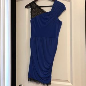 BCBG blue lace cocktail dress